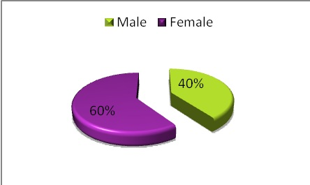 Figure 1: Illustration of the patient distribution by sex